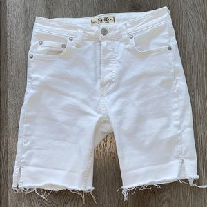 Free people denim bike shorts
